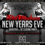 New Years Eve - Red Madness X & OC Closing Party - Orange Club Mannheim