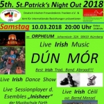 5th St. Patrick´s Night Out 2018 - DÚN MÓR, Irish Dance Show, Sessionplayer