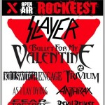 X Rockfest - Slayer, Bullet For My Valentine, Trivium, Killswitch Engage, As I Lay Dying, Anthrax u.a.