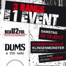 3 Bands - 1 Event mit beaU2ful, Dums&theBand und On the Fly