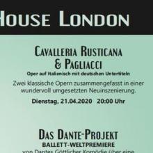 Cavalleria Rusticana & Pagliacci, Der Bajazzo - Royal Opera House London - Liveübertragung