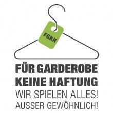 f r garderobe keine haftung tickets karten bei. Black Bedroom Furniture Sets. Home Design Ideas
