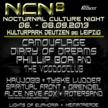 Nocturnal Culture Night 8 - NCN - Camouflage, Diary Of Dreams, Phillip Boa, Tyske Ludder u.v.a. - Deutzen/Leipzig