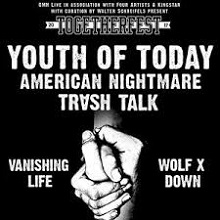 Bild: TOGETHERFEST 2017 - YOUTH OF TODAY / AMERICAN NIGHTMARE / TRASH TALK / VANISHING LIFE / WOLF DOWN